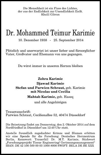 Zur Gedenkseite von Mohammed Teimur