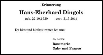 Zur Gedenkseite von Hans-Eberhard